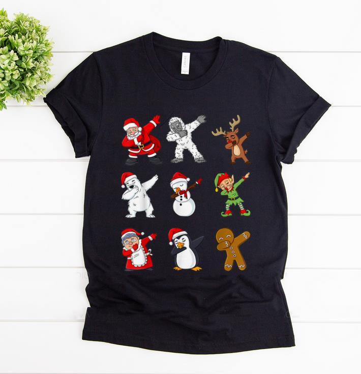 Awesome Dabbing Santa Claus And Friends Christmas Shirt 1 1.jpg