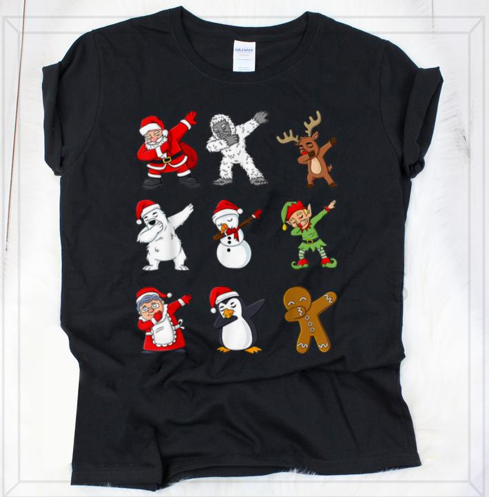 Awesome Dabbing Santa Claus And Friends Christmas Shirt 2 1.jpg