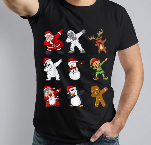 Awesome Dabbing Santa Claus And Friends Christmas Shirt 3 1.jpg