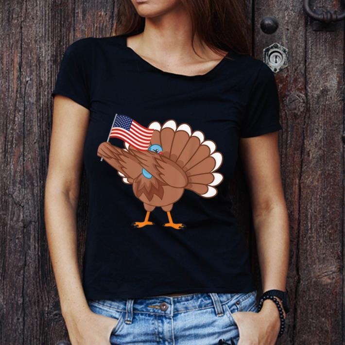 Awesome Dabbing Turkey America Flag Thanksgiving American Family Shirt 3 1.jpg