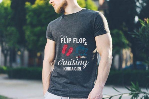 Awesome I M A Flip Flop And Cruising Kinda Girl Flower Shirt 3 1.jpg