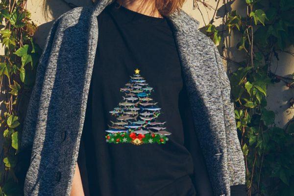 Awesome Shark Christmas Tree Shark Lovers Christmas Shirt 2 1.jpg