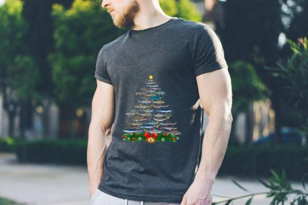Awesome Shark Christmas Tree Shark Lovers Christmas Shirt 3 1.jpg