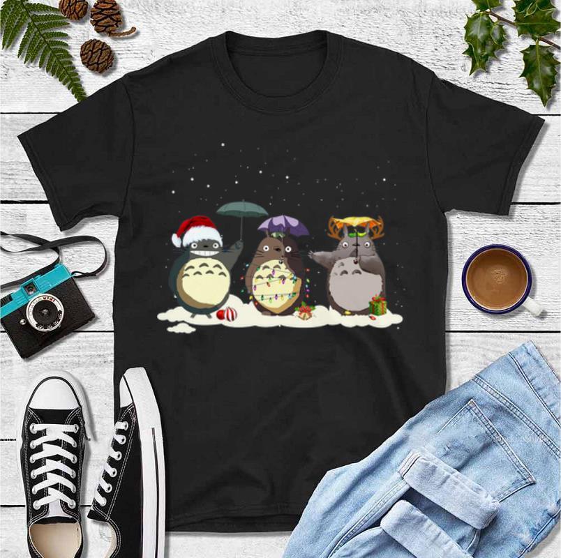 Awesome Totoro Christmas Light Christmas Hat Reindeer Christmas shirt