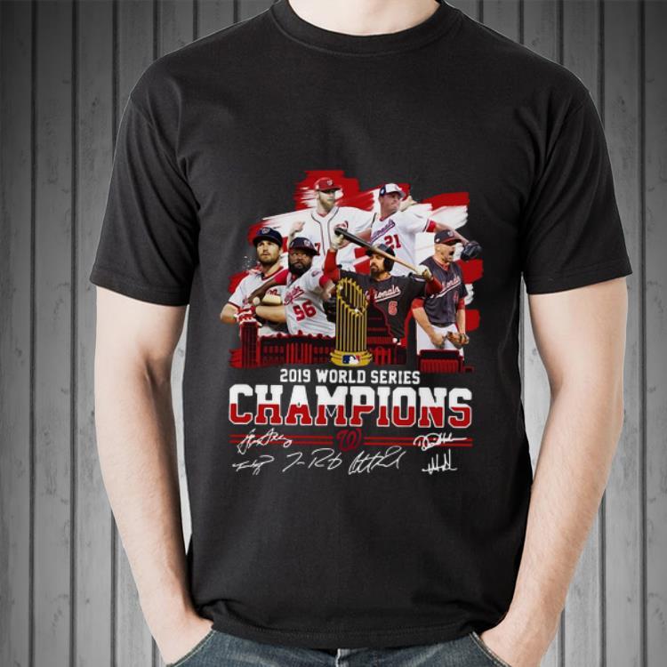 Awesome Washington Nationals 2019 World Series Champions Signatures Shirt 2 1.jpg
