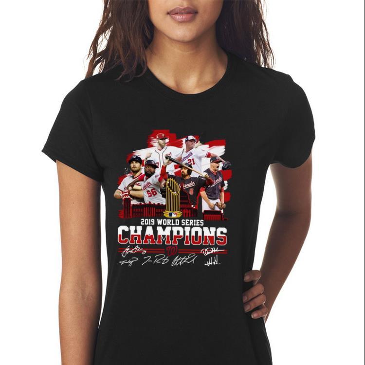 Awesome Washington Nationals 2019 World Series Champions Signatures Shirt 3 1.jpg