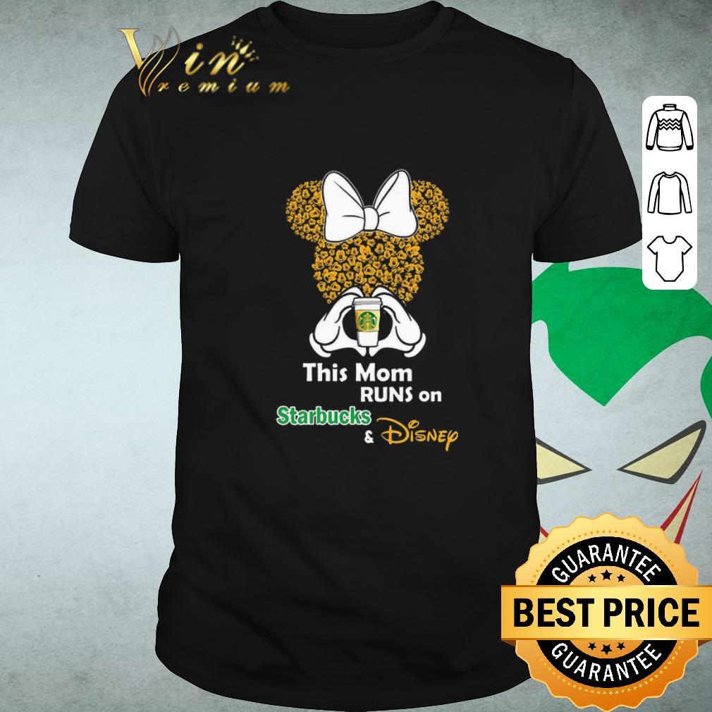 Funny Minnie Mouse This Mom Runs On Starbucks Disney Shirt 1 1.jpg