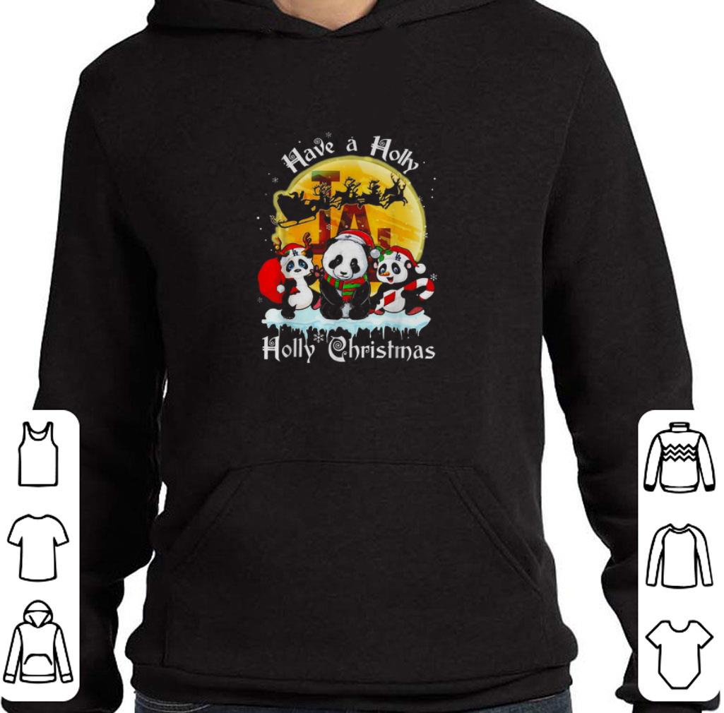 Funny Panda have a holly jolly Christmas shirt