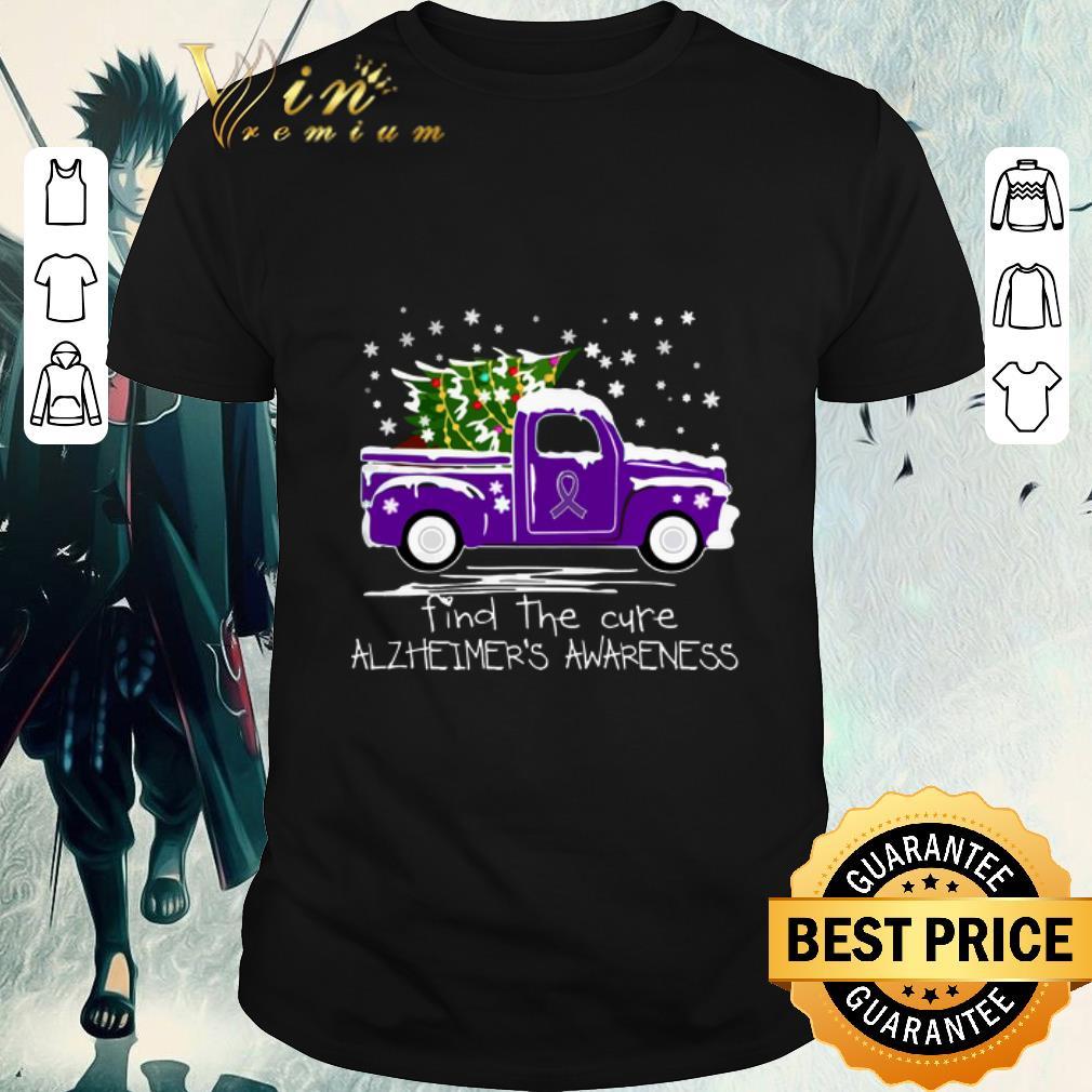 Funny Truck Find The Cure Alzheimer S Awareness Christmas Shirt 1 1.jpg
