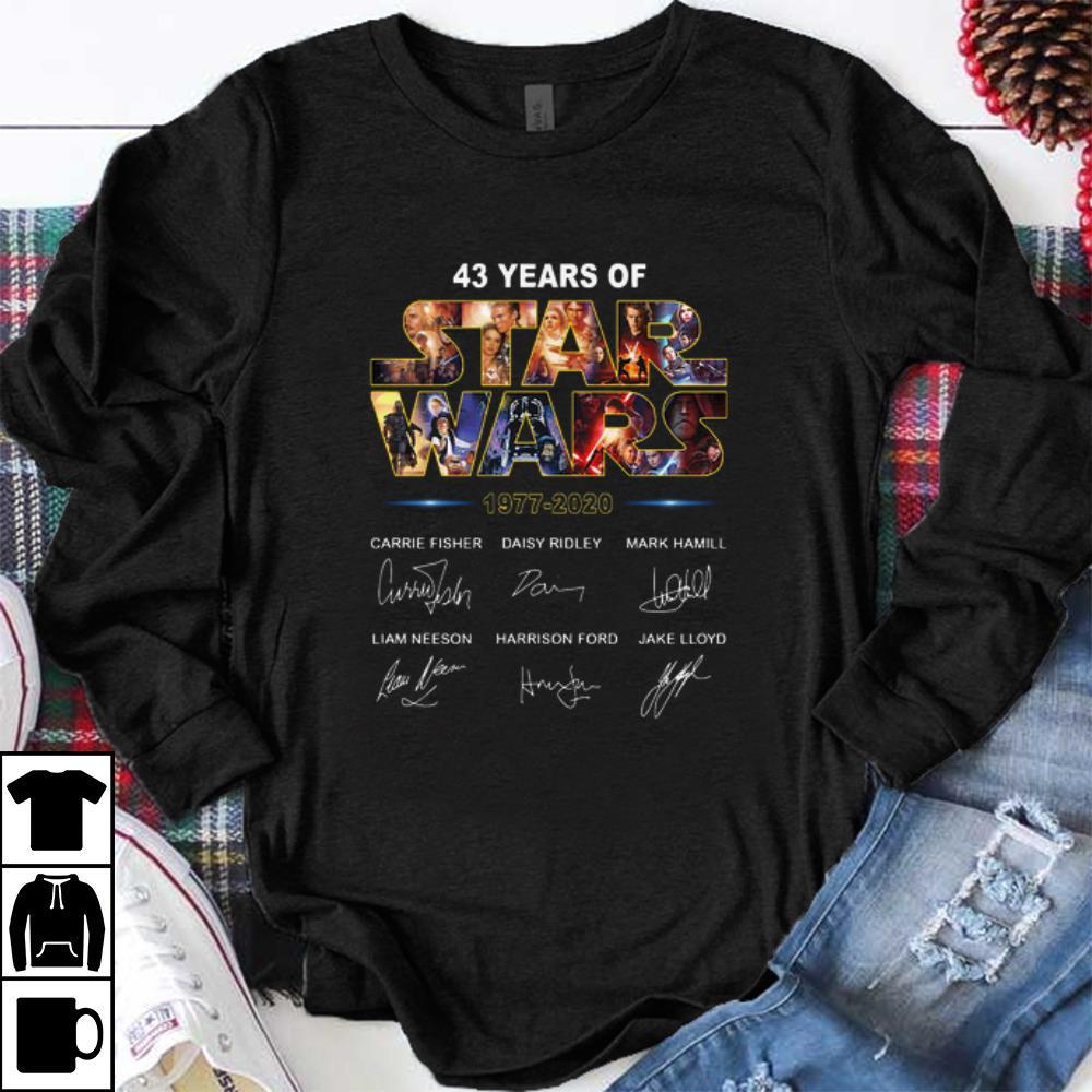 Hot 43 Years Of Star War 1977 2020 Signatures Shirt 1 1.jpg