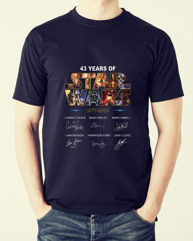 Hot 43 Years Of Star War 1977 2020 Signatures Shirt 2 1.jpg