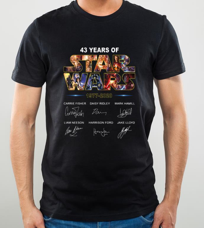 Hot 43 Years of Star War 1977 2020 Signatures shirt