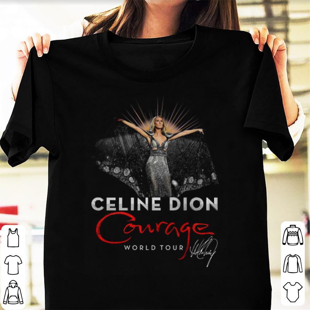 Hot Celine Dion Courage World Tour Signature Shirt 1 1.jpg
