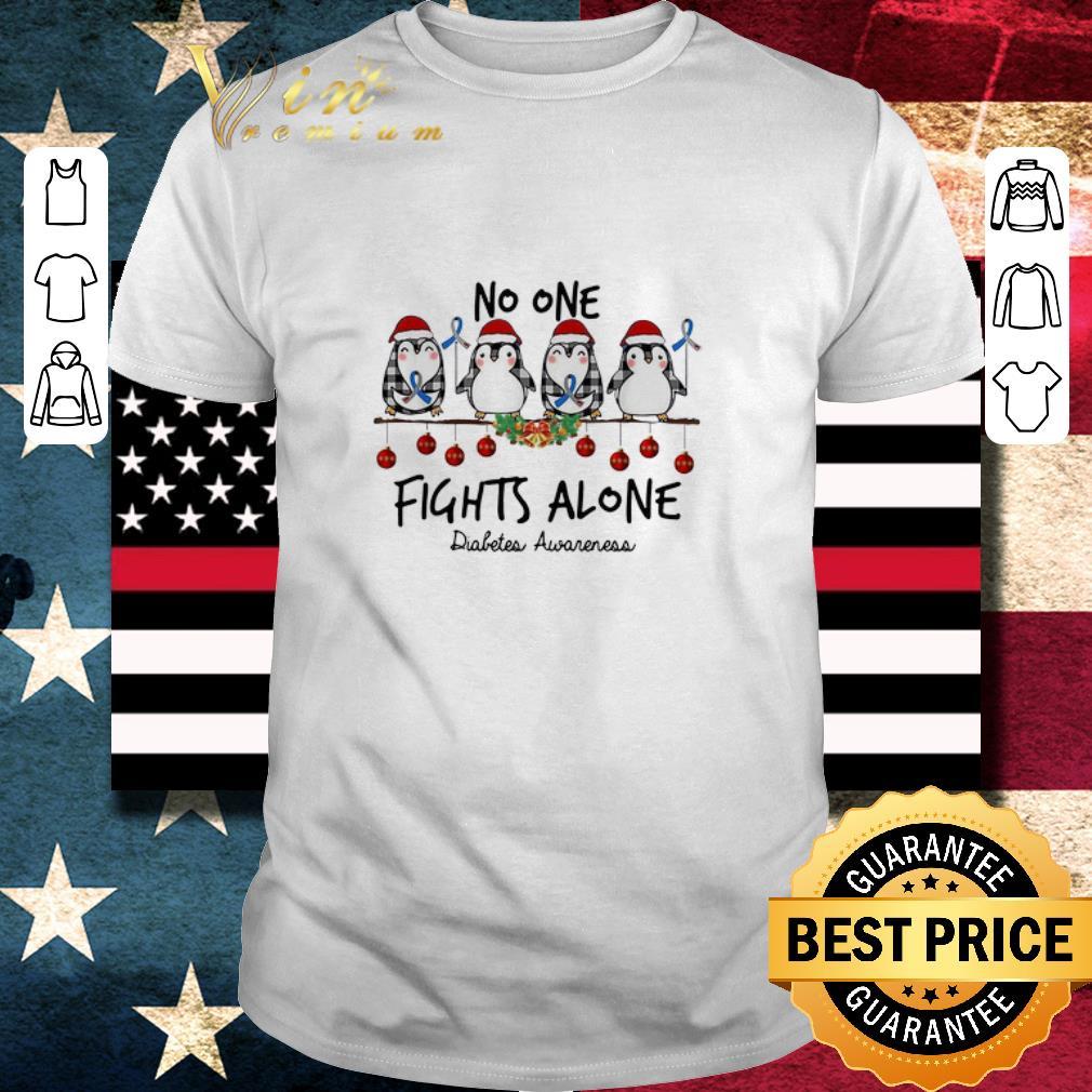 Hot Penguins No One Fights Alone Diabetes Awareness Christmas Shirt 1 1.jpg