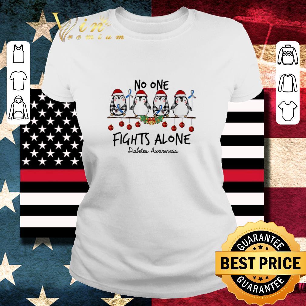 Hot Penguins No One Fights Alone Diabetes Awareness Christmas Shirt 2 1.jpg