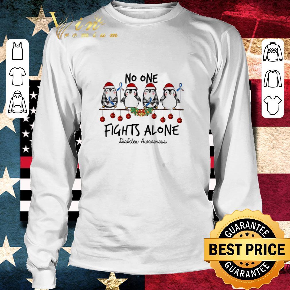 Hot Penguins No One Fights Alone Diabetes Awareness Christmas Shirt 3 1.jpg