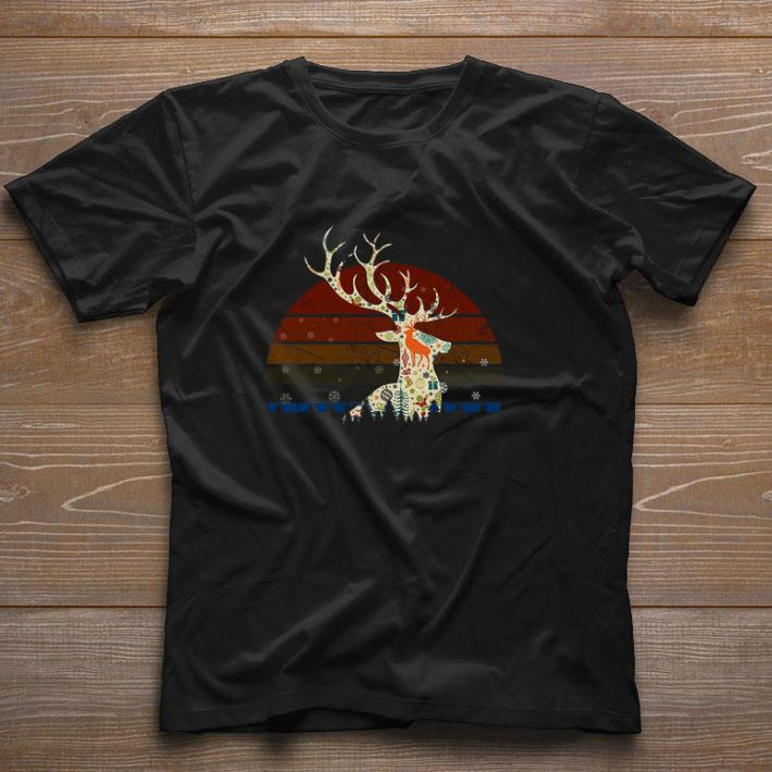 Hot Reindeer Christmas Retro Sunset Shirt 1 1.jpg