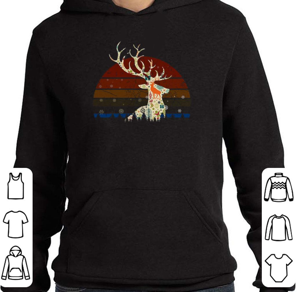 Hot Reindeer Christmas Retro Sunset shirt