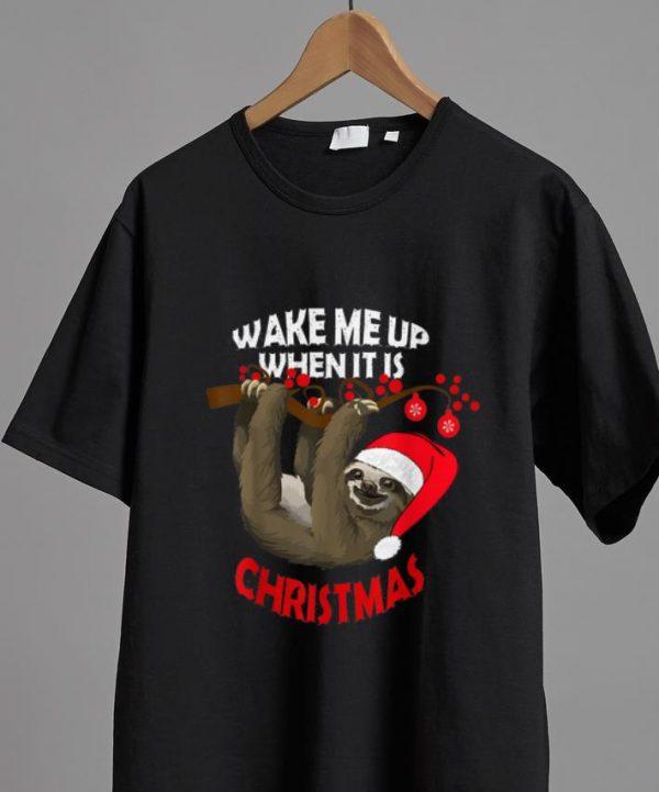 Hot Sloth Wake Me Up When It S Christmas Shirt 2 1.jpg