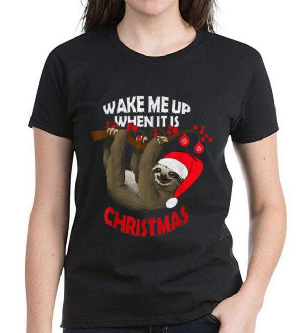 Hot Sloth Wake Me Up When It S Christmas Shirt 3 1.jpg