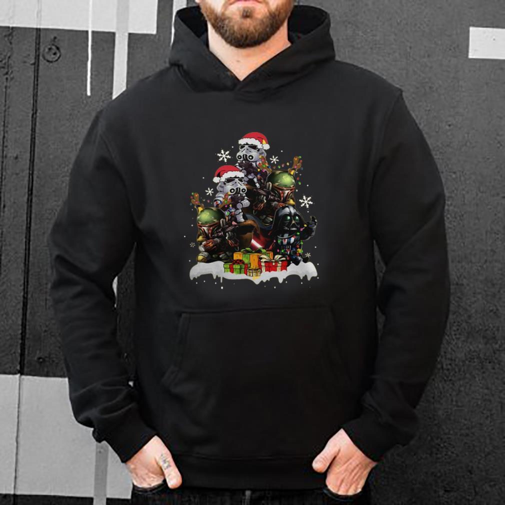 Hot Star Wars Boba Fett Darth Vader Stormtrooper Boba Christmas Tree shirt