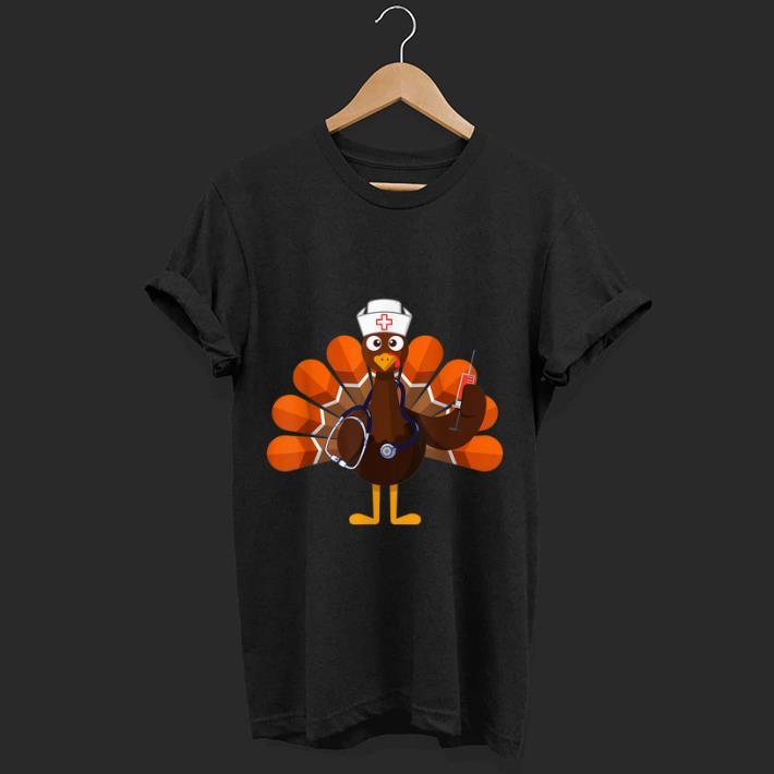 Hot Thanksgiving Nurse Turkey Family Gift Men Women Funny Shirt 1 1.jpg