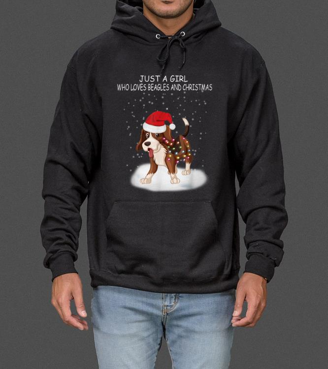 Just A Girl Who Loves Beagles And Christmas Funny Xmas Gifts sweater