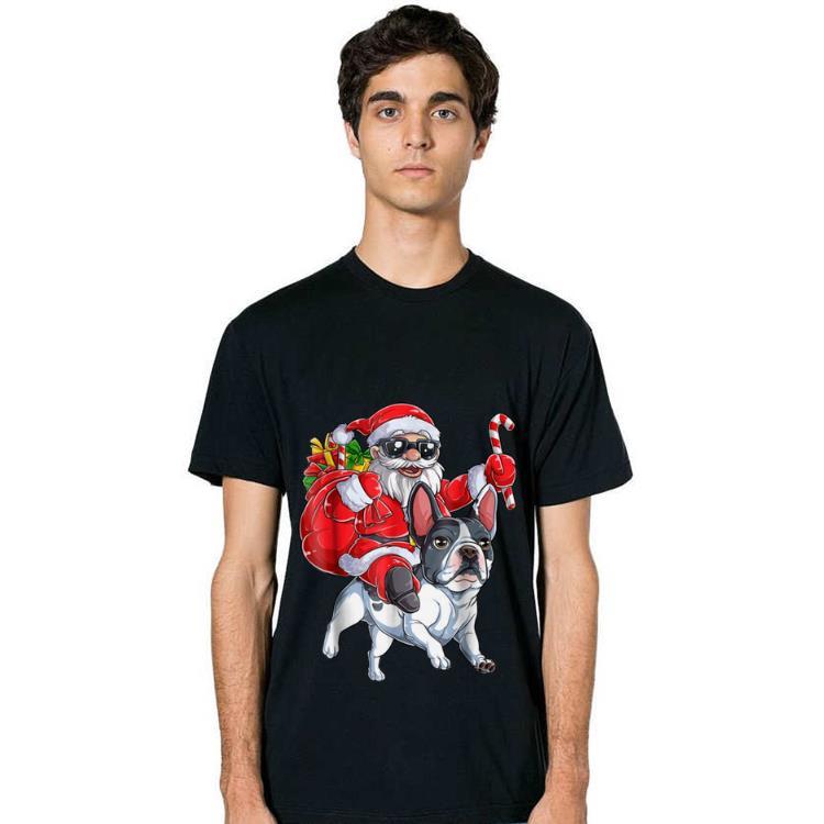Nice French Bulldog Christmas Santa Claus Woofmas Dog Boys Shirt 2 1.jpg