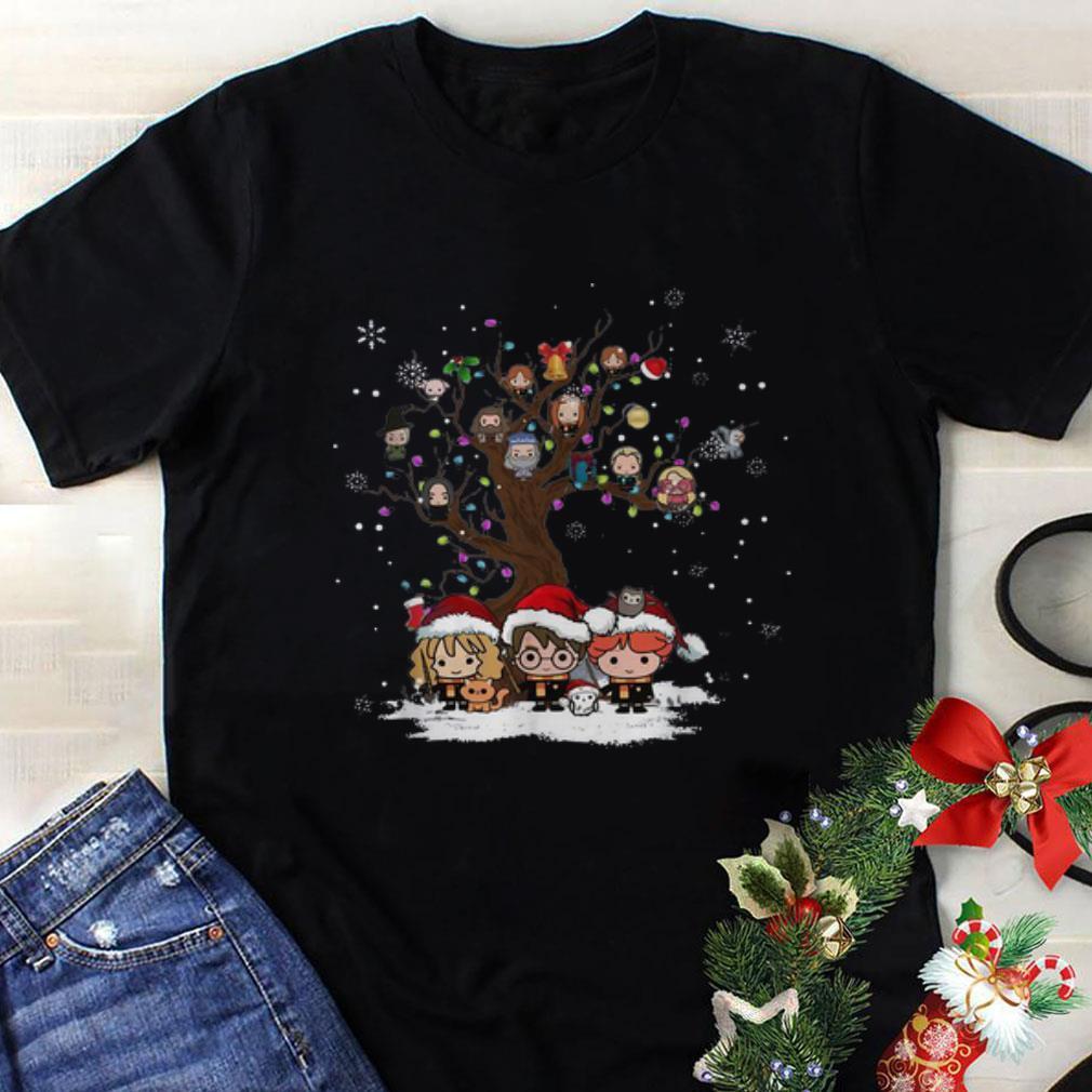 Nice Harry Potter Chibi Character Tree Merry Christmas shirt