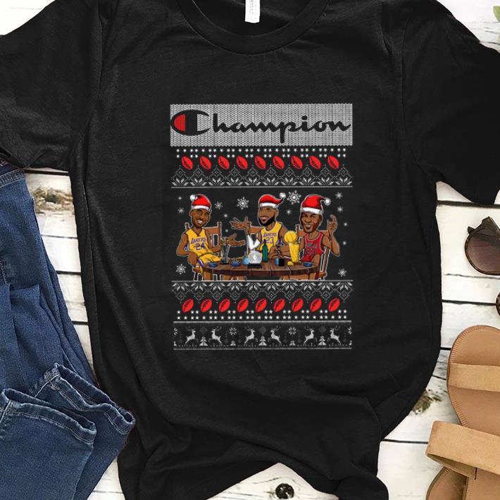 Nice Lebron James Kobe Bryant Michael Jordan Champion Lakers Ugly Christmas Shirt 1 1.jpg