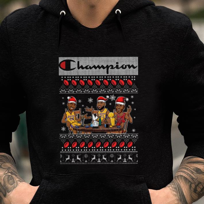 Nice Lebron James Kobe Bryant Michael Jordan Champion Lakers Ugly Christmas Shirt 2 1.jpg