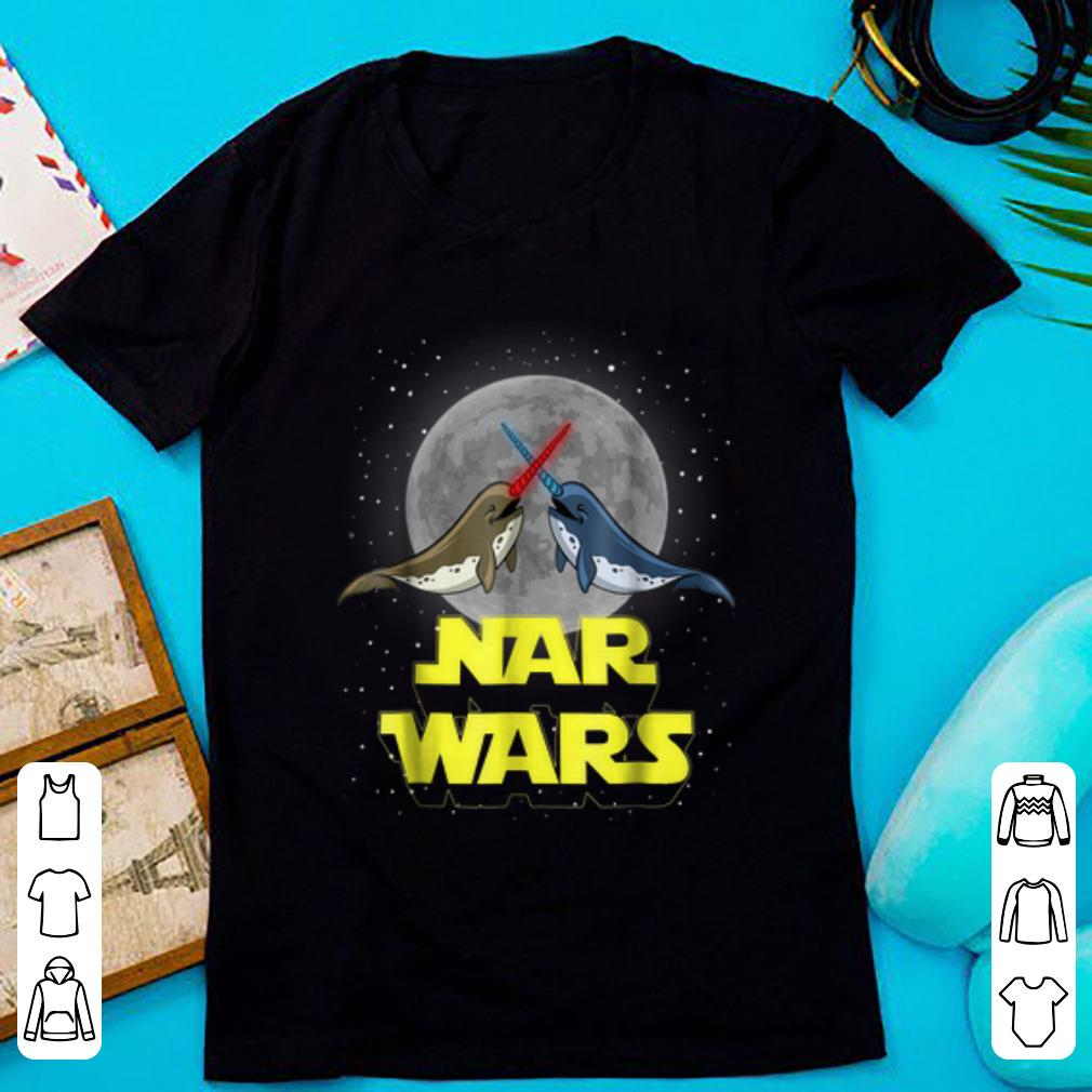 Nice Nar Wars Parody Star Wars Narwhals Lover Shirt 1 1.jpg