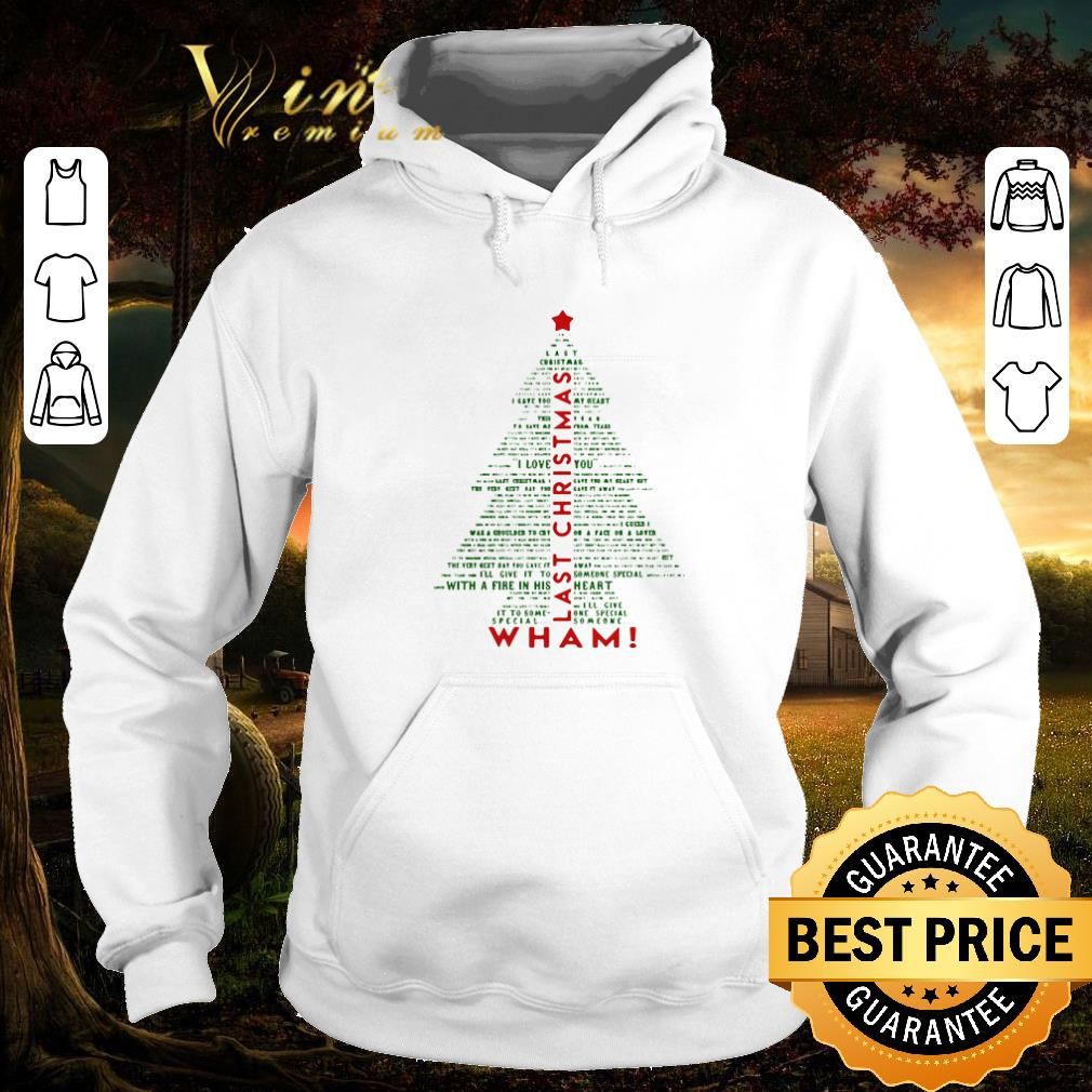 Nice Wham Last Christmas Tree shirt