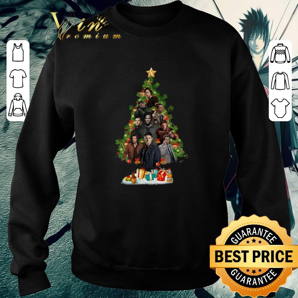 Official Supernatural characters Christmas Tree shirt