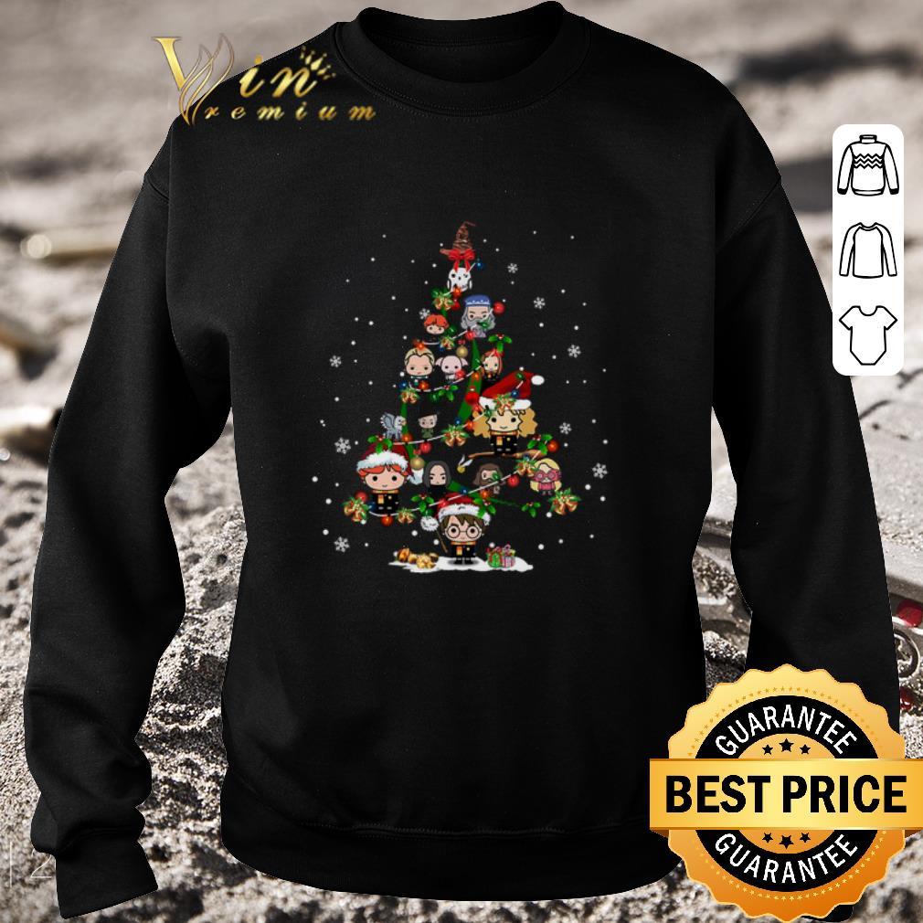 Original Harry Potter characters Christmas tree shirt