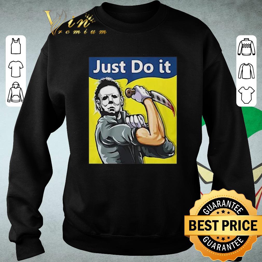 Original Michael Myers strong woman just do it shirt