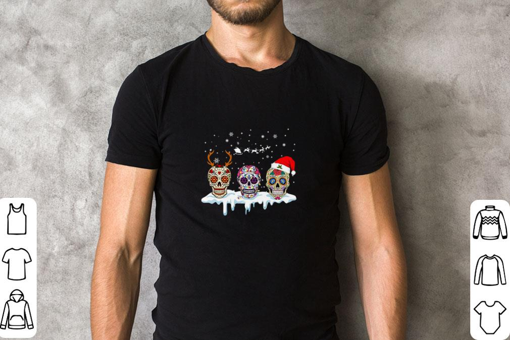 Original Sugar Skulls With Christmas Santa Hat Reindeer Shirt 2 1.jpg