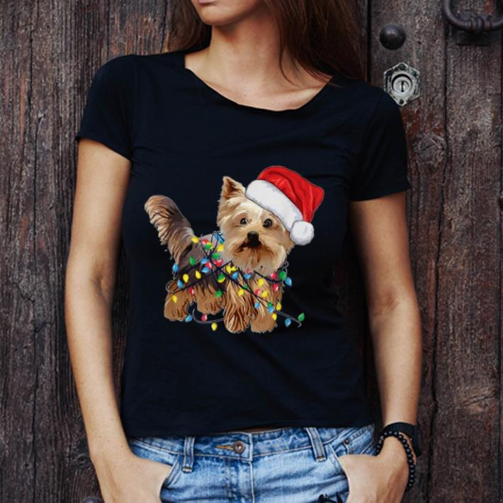 Original Yorkie Tree Christmas Santa Hat Light Xmas Tree Gift Shirt 3 1.jpg