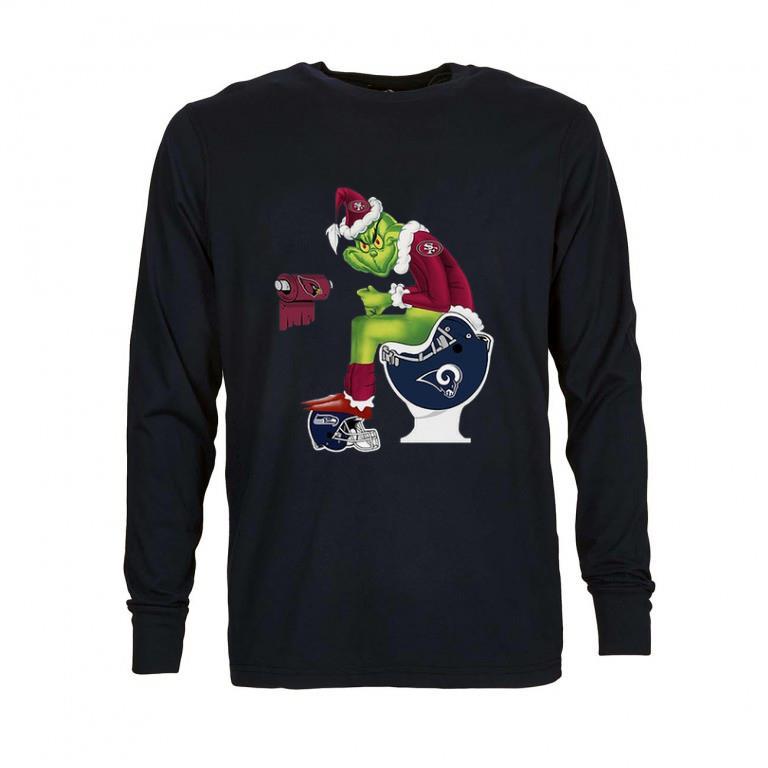 Premium 49ers Grinch Santa Cardinals LA Rams Toilet Seattle Seahawks shirt