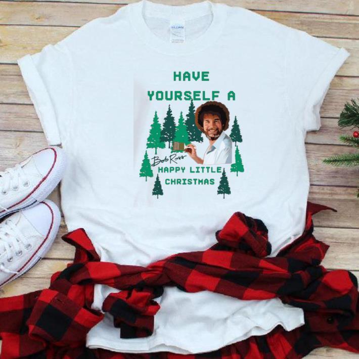 Premium Bob Ross Have Yourself A Happy Little Christmas Shirt 1 1.jpg