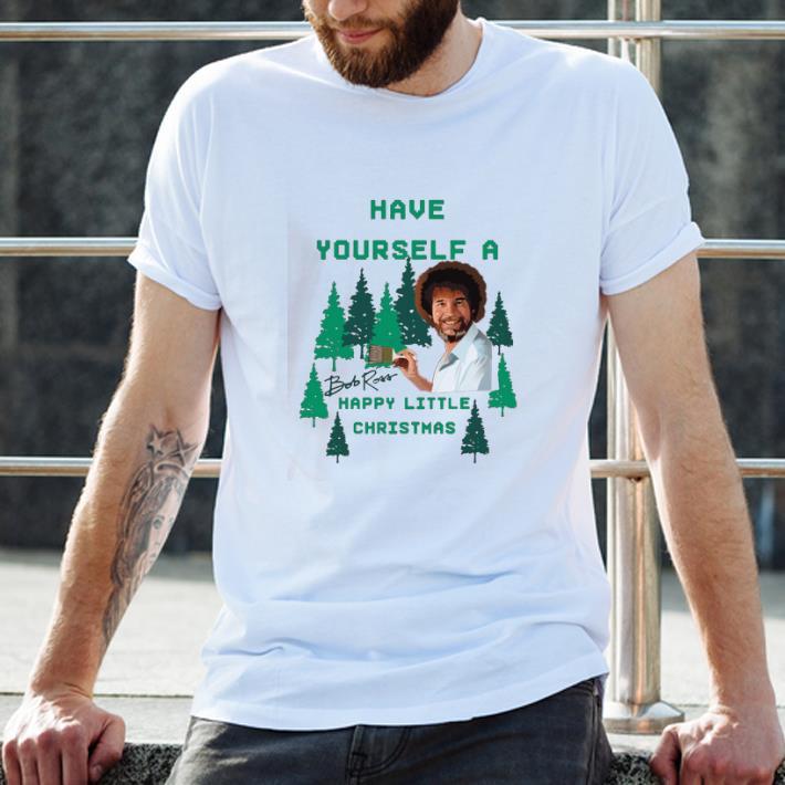 Premium Bob Ross Have Yourself A Happy Little Christmas Shirt 2 1.jpg