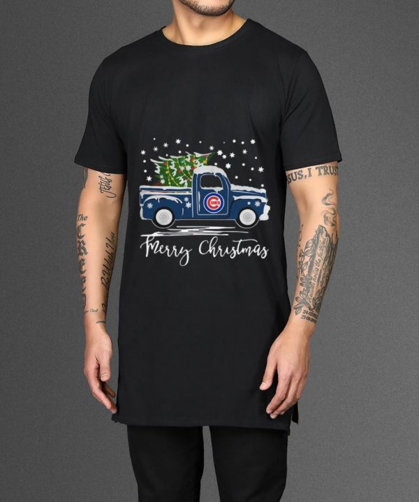 Premium Chicago Cubs Pickup Truck Merry Christmas Shirt 2 1.jpg