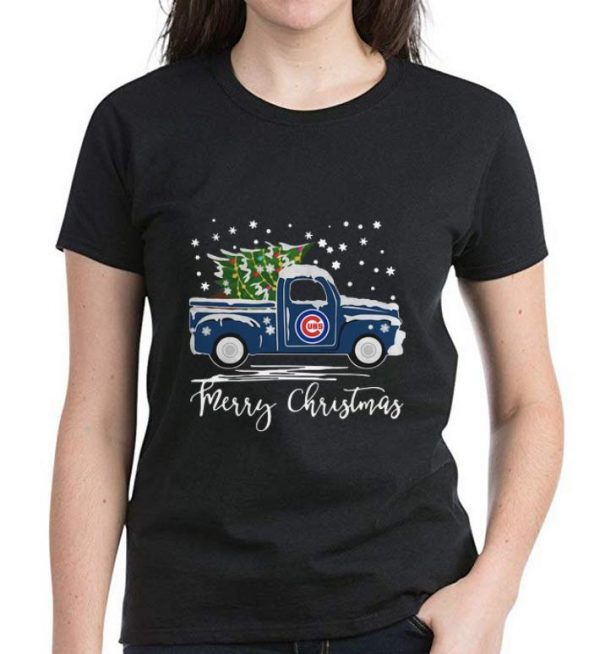 Premium Chicago Cubs Pickup Truck Merry Christmas Shirt 3 1.jpg