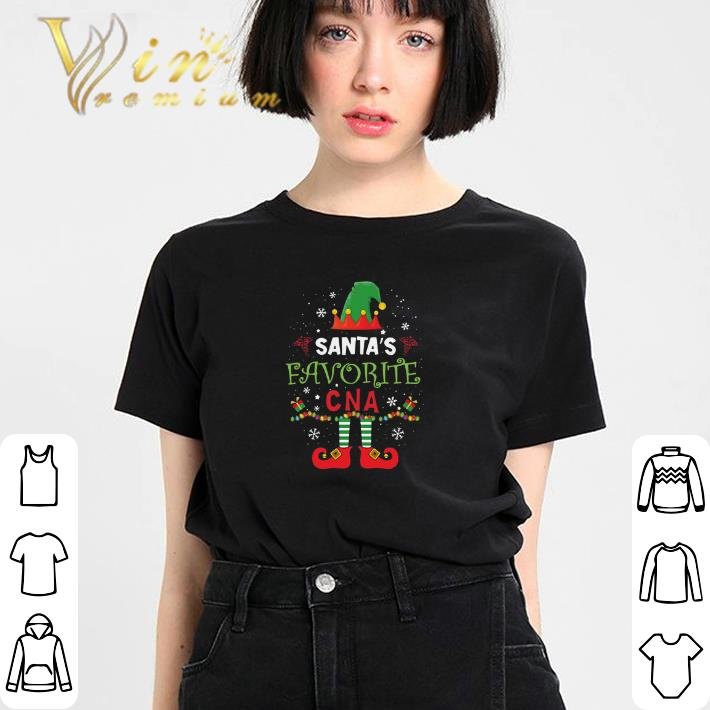 Premium Elf Santa S Favorite Cna Christmas Shirt 3 1.jpg