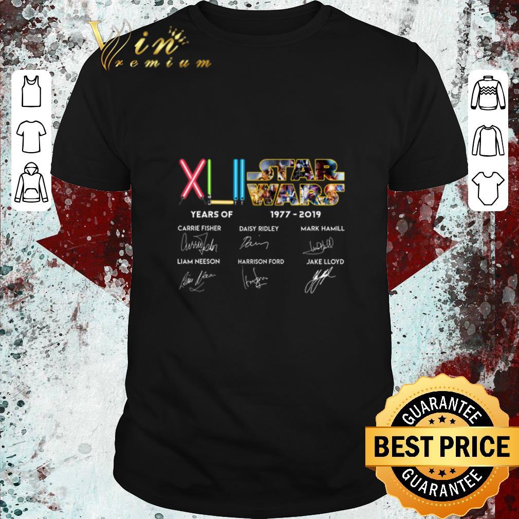 Premium Xlii 42 Years Of Star Wars 1977 2019 Signatures Shirt 1 1.jpg