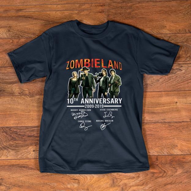 Pretty 10th Anniversary Zombieland 2009 2019 Signatures Shirt 1 1.jpg