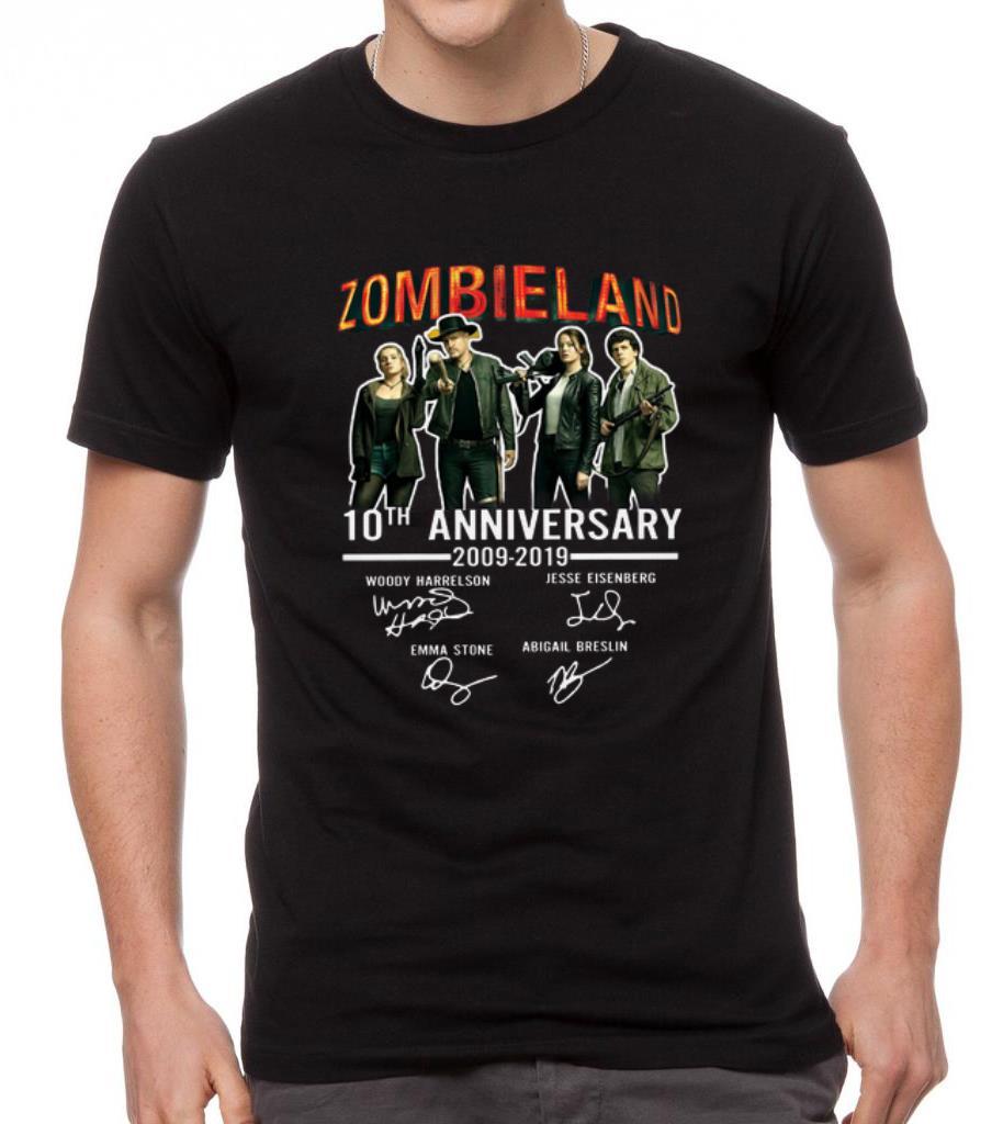 Pretty 10th Anniversary Zombieland 2009 2019 Signatures Shirt 2 1.jpg
