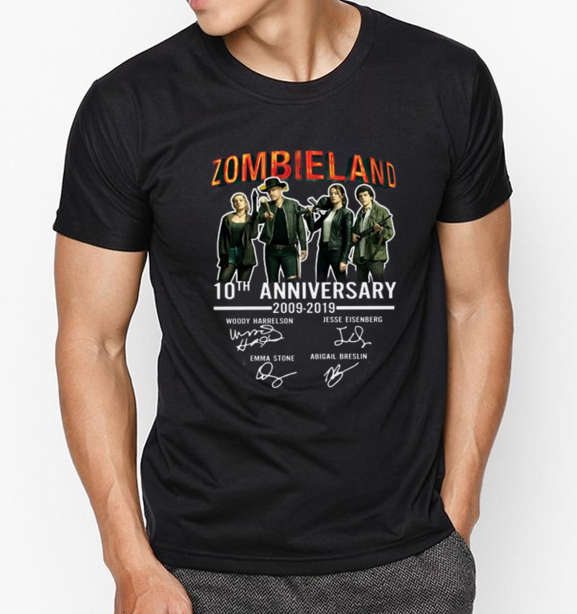Pretty 10th Anniversary Zombieland 2009 2019 Signatures Shirt 3 1.jpg