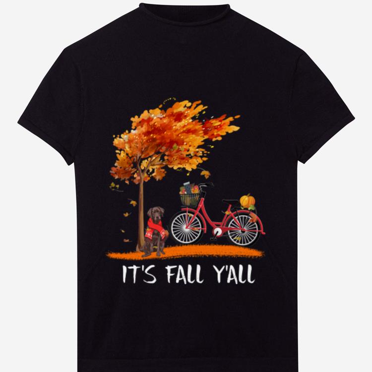 Pretty Chocolate Labrador Bike It S Fall Y All Pumpkin Thanksgiving Shirt 1 1.jpg