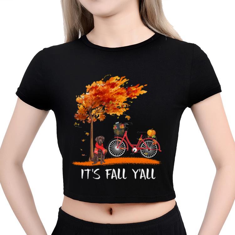 Pretty Chocolate Labrador Bike It S Fall Y All Pumpkin Thanksgiving Shirt 3 1.jpg